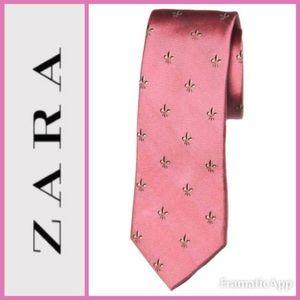 🆕ZARA Fleur De Lis ⚜️Silk Tie